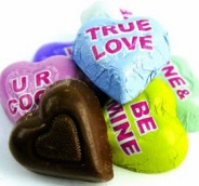 Chocolate Conversation Hearts - 2 LBS